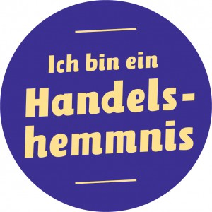 Handelshemmnis-Button