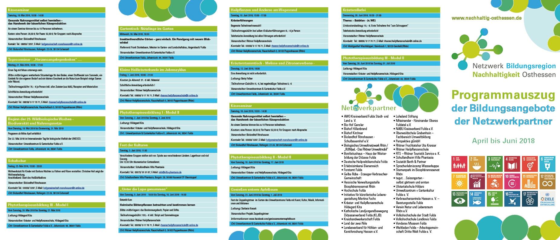 Flyer Netzwerk Bildungsregion Nachhaltigkeit Osthessen Seite 1
