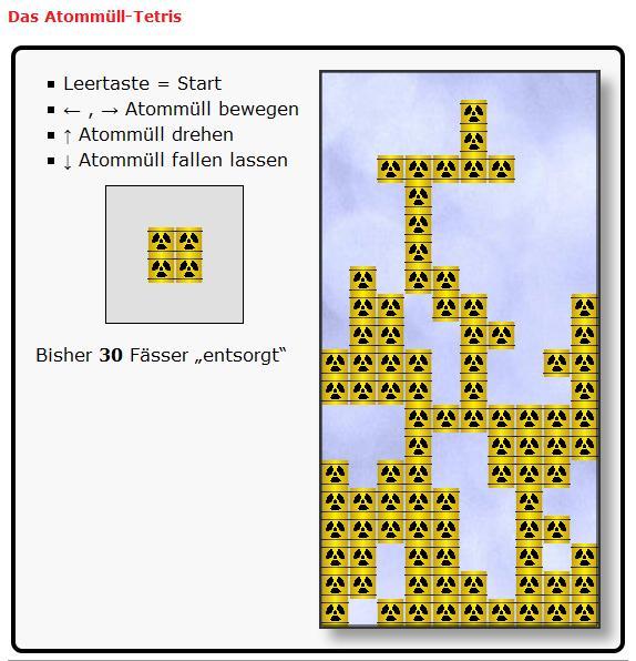 Atommüll-Tetris
